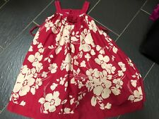 MONSOON GIRLS RED CREAM FLORAL FULLY LINED COTTON SUMMER DRESS 10-11 YEARS