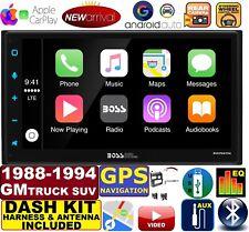 GMC CHEVY c1500 88-94 ANDROID AUTO APPLE CARPLAY BLUETOOTH USB CAR RADIO GPS NAV