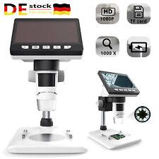 HD 1080P 600X Digital Mikroskop USB LCD Microscope Kamera Lupe mit Stand 8LED