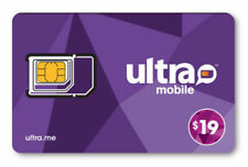 Ultra Mobile Sim Card with $19 Plan,1st Month Services included