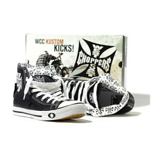 SCARPE BY WEST COAST CHOPPERS WARRIOR (BLACK/WHITE)HI-TOP SIZE EU (TG 36) UNISEX