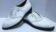 FootJoy Classic White Golf Shoes Spikeless Style #55707 9-1/2 D Ships Free w/Bin