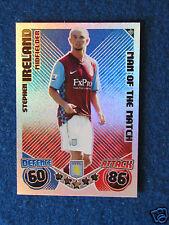 Topps Match Attax Card - Stephen Ireland - Aston Villa -Man of the Match-2010/11