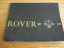 ROVER 2000 PRESTIGE BROCHURE