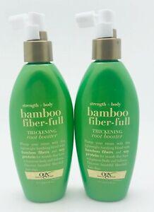 OGX Bamboo Fiber-Full Thickening Root Booster Strength+Body 6 oz U/B 2PK!