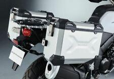 Genuine Suzuki V-Strom 650/1000 2017- L7- Aluminium Side Case Pannier Set SILVER