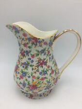 Royal Winton Old Cottage Chintz 1995 Pitcher 8.5 Tall Floral Shabby Chic England