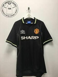 Manchester United third 3rd football shirt 1998/1999 Men's Large
