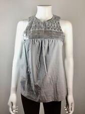 8f084d064a527 VINCE Gray Sleeveless Sequin Tank Blouse Size 2