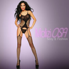 CATSUIT reggicalze Bodystocking a Rete Ouvert SEXY Hot Lingerie Body MaliziOSA
