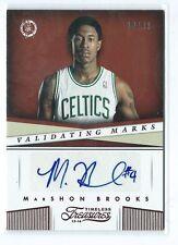 2013-14 Timeless Treasures MarShon Brooks Validating Marks RED AUTO 38/99