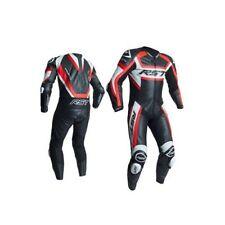 Combinaisons de motocyclette rouges en cuir