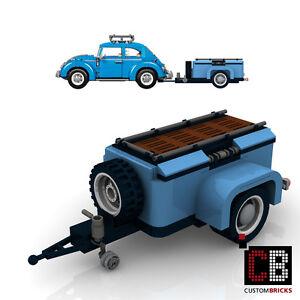 BAUANLEITUNG Eigenbau PDF Gepäckanhänger Anhänger für LEGO® Steine zB VW 10252