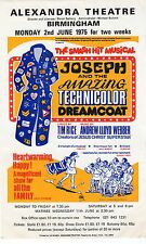 Alexandra Theatre Birmingham - JOSEPH Handbill 1975