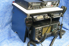 Blue Ham Radio Bench Mount Rack Stack  Kenwood Yaesu Icom Mike Antenna CB