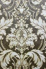 Vlies Tapete Barock Ornament schwarz gold beige metallic Hochwertig JC2008-5