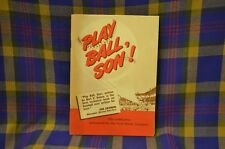 "Vtg 1950s Advertising FORD MOTOR COMPANY sponsored Booklet, ""PLAY BALL, SON!"""