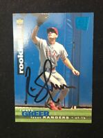 RUSTY GREER 1995 UPPER DECK ROOKIE RC AUTOGRAPHED SIGNED AUTO BASEBALL CARD 182