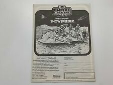 Vintage 1980 Star Wars Rebel Armored Snowspeeder Instruction Sheet Original