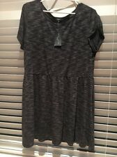 New Look Grey Charcoal Patterned Tunic Smock Top Dress Brand New Sz 24