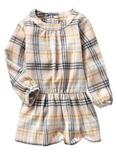 GAP Baby Girl Size 0-3 Months NWT Pink / Blue Plaid Flannel Dress