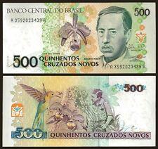 Brazil 500 CRUZADOS novos sign 27 P 222 UNC OFFER !