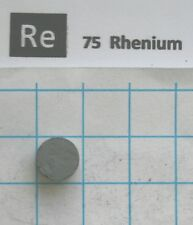 2.75 gram Rhenium metal pellet 99,96% pure element 75 sample
