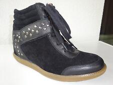 CA SHOTT COPENHAGEN Damen Nieten Keilabsatz High-Top Sneaker Leder Gr.37 Neuw