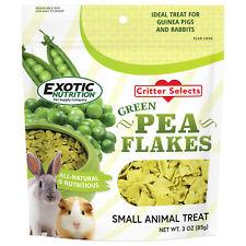 Green Pea Flakes 3 oz - Healthy Veggie Treat - Hedgehog, Rat, Degu, Parrot, More