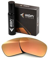 Polarized IKON Iridium Replacement Lenses For Oakley Jawbone Rose Gold Mirror