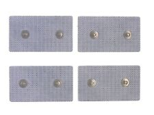 rt 4 Elettrodi adesivi elettrostimolatore 4,5x8cm a due clip doppia bottoni ems