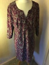 Boden cord dress, 14R Purple And Grey