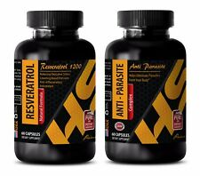 Anti-aging naturals - RESVERATROL – ANTI PARASITE COMBO - red wine tablets