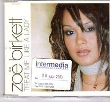 (DX998) Zoe Birkett, Treat Me Like A Lady - 2003 DJ CD