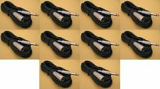 """10 x 15Ft XLR 3-Pin MALE to 1/4"""" MONO Plug Mic Microphone Audio Cable Cord 15 Ft"""