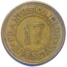 616-INDALO- Francisco Flor. 2 Pesetas !!!!!!!!!!!!!!!!!