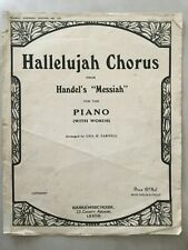 Hallelujah Chorus Music Score with words for piano with violin & cello