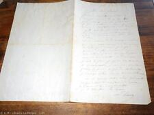 1858.Lettre autographe.Jean Louis Hamon (peintre Bretagne)
