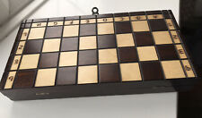 Wooden Travel Chess Set in Wooden Box Great Condition