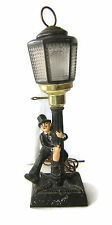 Vintage Drunk Hobo Bar Light Metal with Glass Shade Works