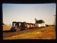 ZP14 TRAIN SLIDE Railroad Short Line EMD SD35 1557 Shoreham MN A14268 1989