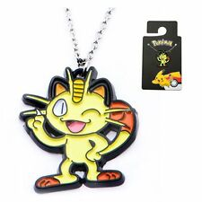 Pokemon NIP * Meowth * Stainless Steel Enameled Pendant Necklace 18-Inch Chain