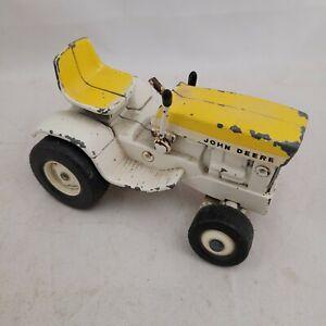 John Deere 140 April Yellow Patio Lawn Garden Tractor 1/16 Ertl worn toy vintage