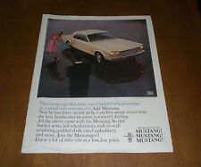 1960's CAR AUTOMOBILE LIFE MAGAZINE AD PRINT - YOU PICK  MUSTANG FORD OLDS DODGE