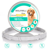 """WOLFWILL 2018  Plus Flea & Tick Collar for Dogs Cat Pet 10 Month Protection 26"""""""