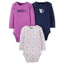 JUST ONE YOU INFANT GIRLS 3PK OF LONG SLEEVE BODYSUITS~SIZE NEWBORN~NEW W/TAG