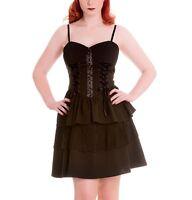 XS 8 Black Goth Rara Dress Hellbunny Ribbon Lacing Gothic Punk Corset