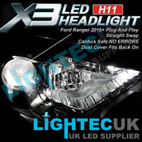 FORD RANGER 2016+ CANBUS H11 / H8 FANLESS 50W 12000LM LED BULBS XENON KIT