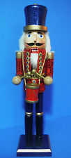 NUTCRACKER CHRISTMAS BEAUTIFUL DRUMMER BOY NUTCRACKER W/DRUM 15'' PATRIOTIC DAY