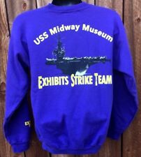 USS MIDWAY AIRCRAFT CARRIER U.S NAVY MILITARY MUSEUM RARE UNIQUE SWEATER M